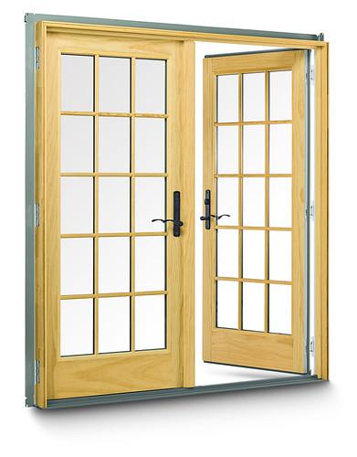 400 series frenchwood hinged outswing patio doors 400 for Andersen window 400 series