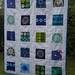 mod flower blues throw quilt