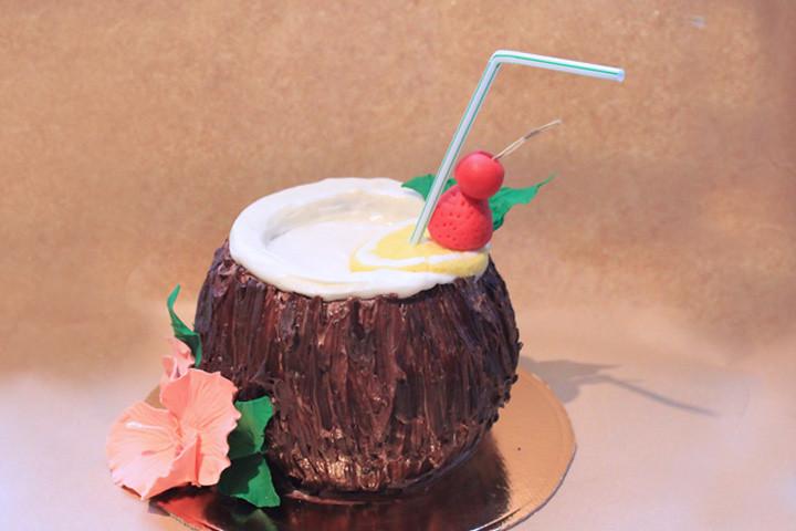 Coconut Shaped Cake