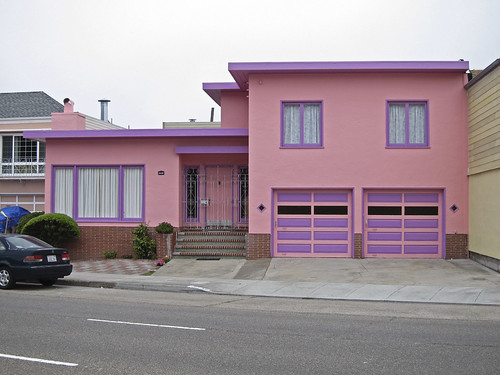 Pink house, outer Parkside (Sunset)