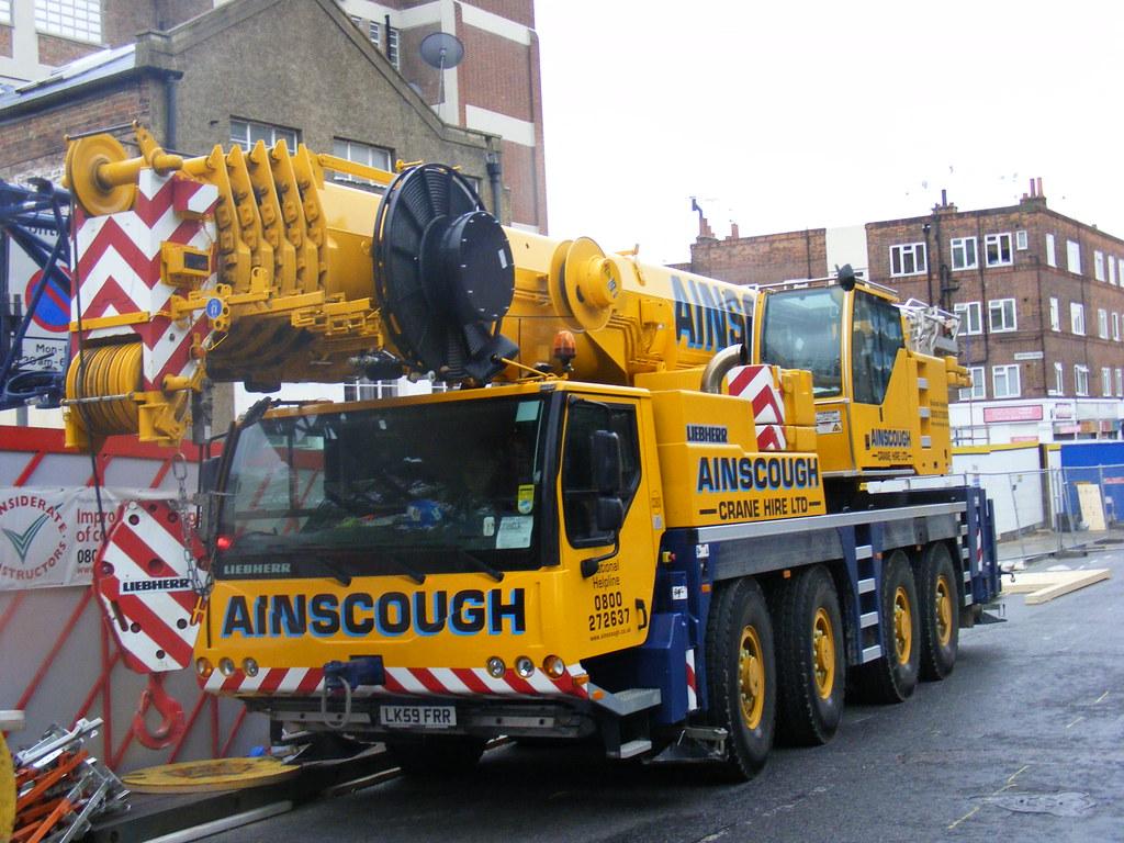 Mobile Crane Terminology : Ainscough crane hire liebherr ltm  wheeler cr