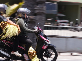 People travelling on Scooters & Motorbikes - Bali Indonesia | by neeravbhatt