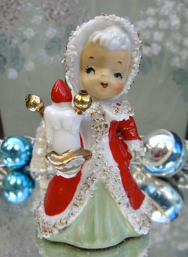 Altered Lefton Christmas Bell Angel | by saturdayfinds
