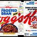 Kellogg's - Lightly Frosted Bran - NEW - cereal box - 1992