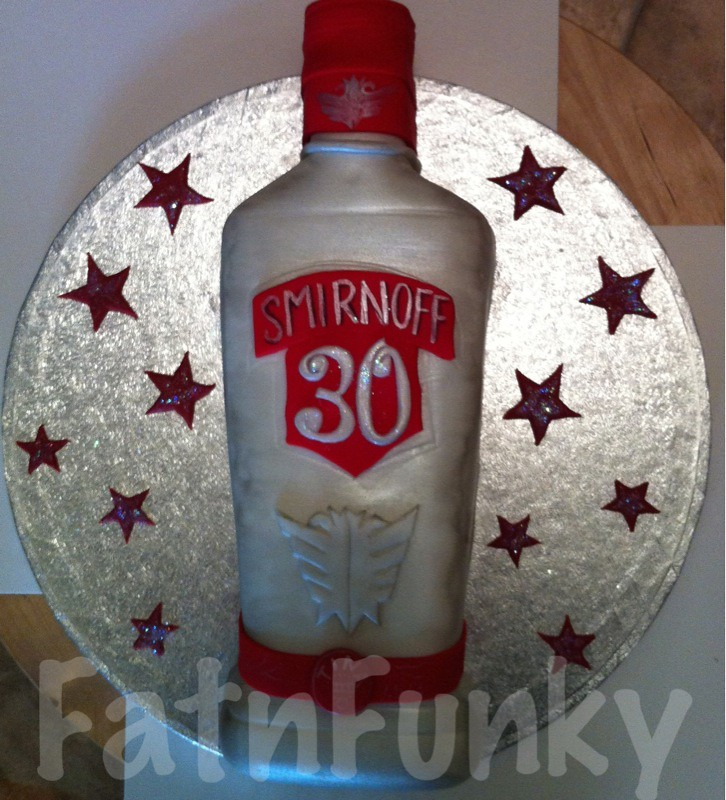 Vodka Bottle Cake 30th Birthday Cake For A Lady Who Loves Flickr
