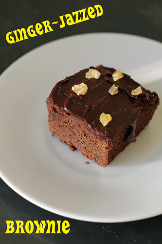 ginger-jazzed brownies | by awhiskandaspoon