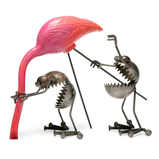 Classic Flamingo Away Sculpture | by New Inspiration Home Design