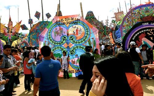 giant kites in Guatemala