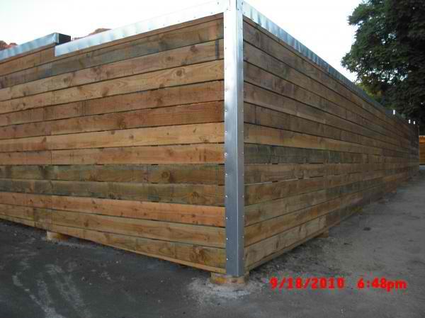 custom 2x6 ptdf modern horizontal fence with galvanized st