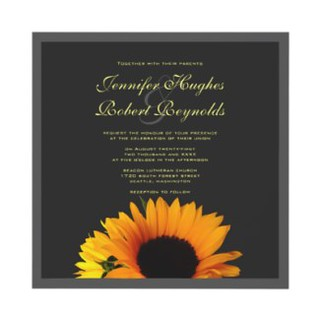 Sunflower wedding invitation | by floraluniverses