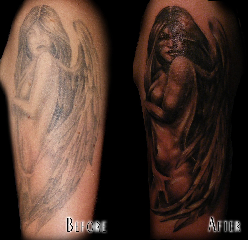 Angel fixer upper much better mez love flickr for Tattoo donne guerriere