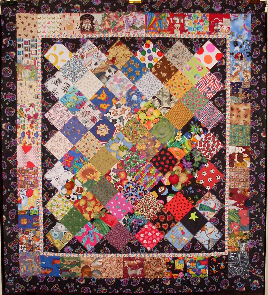 T Story Quilt On Point All Finished And The Binding Will