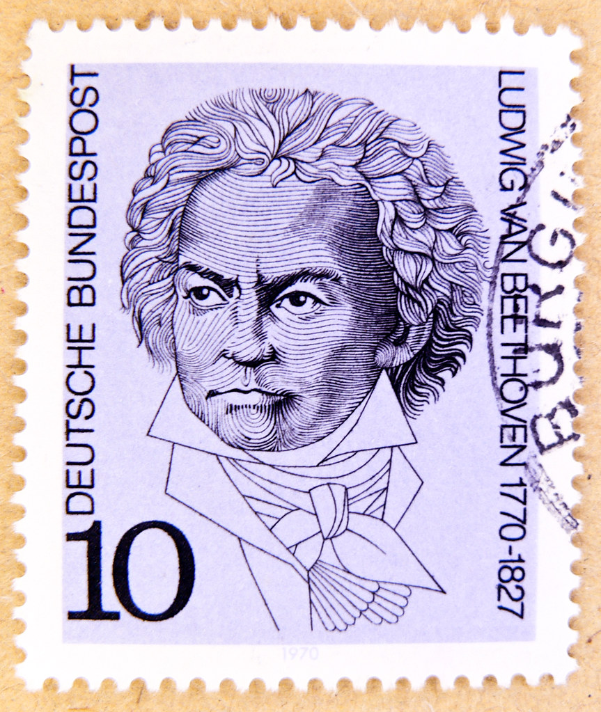 Beautiful German Stamp Germany 10 Pf Ludwig Van Beethoven Composer Classic Music 1770 1827 Postage