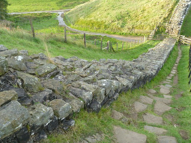 curtain wall west of Milecastle 42
