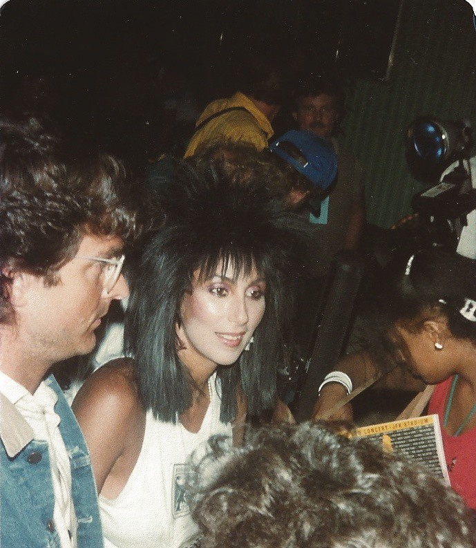 Backstage At Live Aid Cher That Also Looks Like