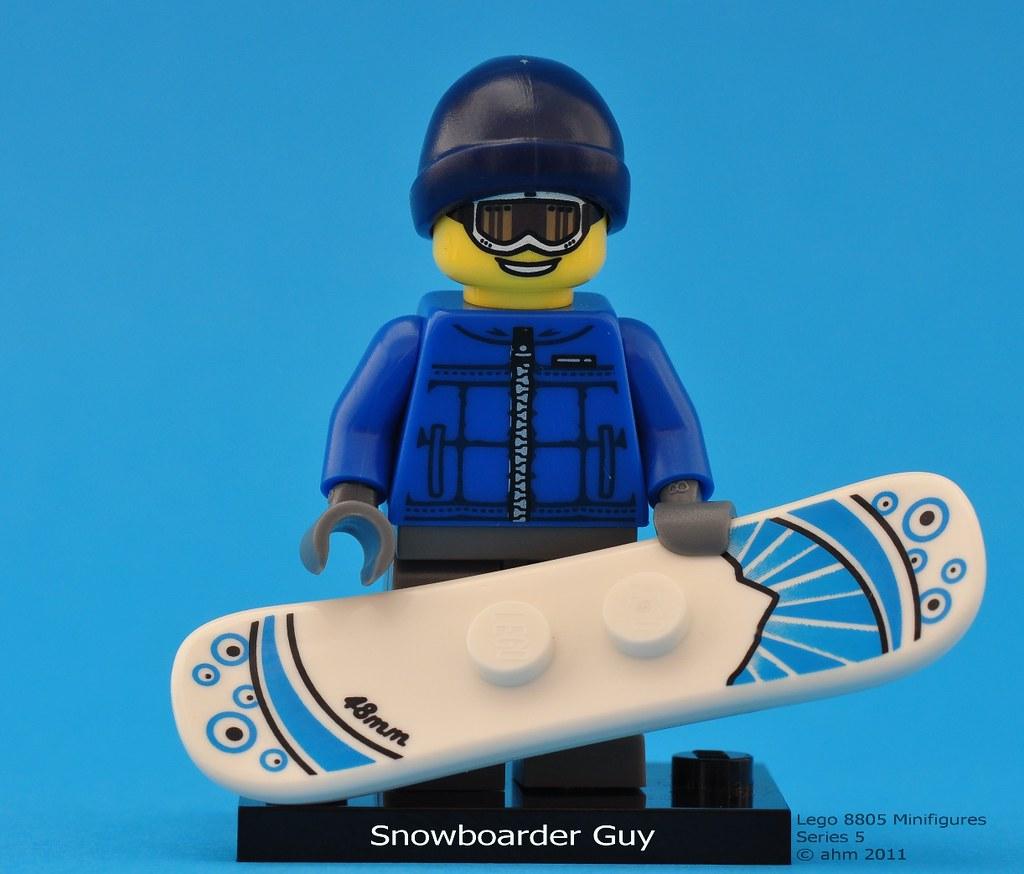 Lego Minifigures Snowboarder Lego 8805 Minifigures
