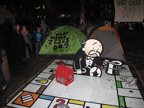 Banksy Monopoly board at Occupy London, St. Paul's Cathedral, London 2011 | by duncan