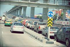 Car owners avoid floods by parking on motorways