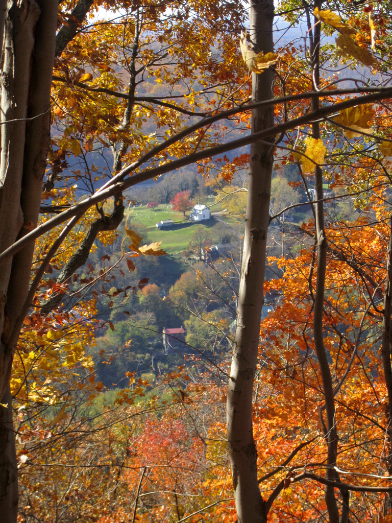 Fall Colors Frame West Virginia Hillside From Maryland Hei