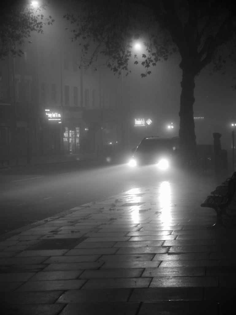 Foggy London Street 3 | Looking down the High Road in East ...