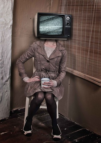 Tv head. [Published in Practical Photoshop Magazine] | by Evelynn Paula