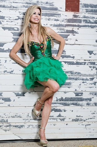 Shaune Bagwell in clothing by Muzzies.... Dress, Sherri Hill; Shoes, Alisha Hill; Earrings and bracelet, Jim Ball. | by photo-man2