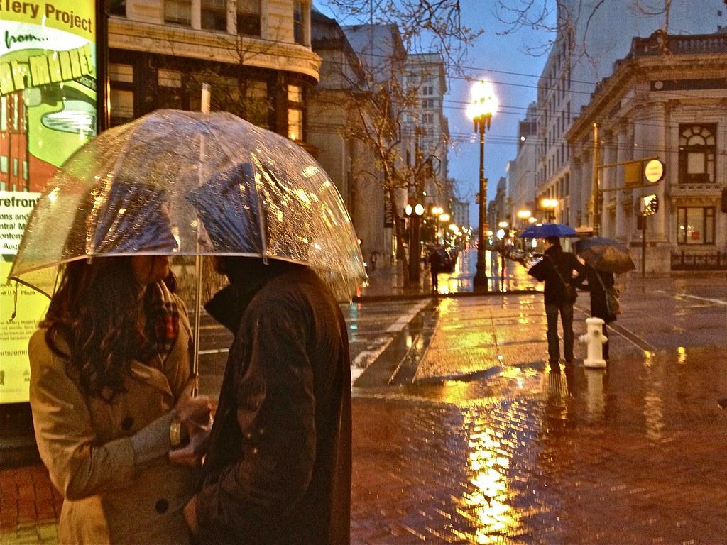 Stock Couple Under Bubble Umbrella San Francisco Flickr