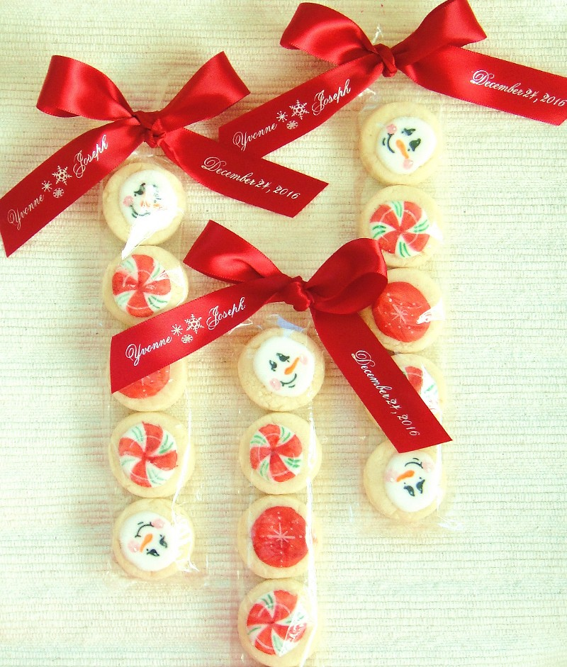 Christmas Cookie Wedding Favors Sweet Wintry Cookie