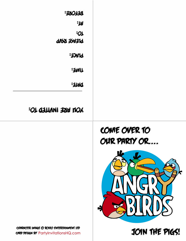 Printable Angry Birds party invitations | Click here to get … | Flickr