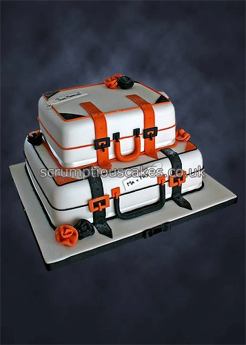 Wedding Cake 795 Black Amp Orange Suitcases Paula Jane Bourke Flickr