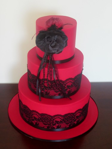 red and black wedding cake images black lace wedding cake a picture of a similar 19067