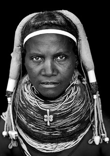 Mwila Woman Wearing The Vilanda Necklace, Chibia Area, Angola | by Eric Lafforgue