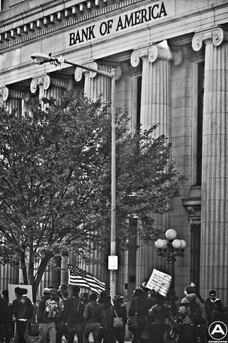 Occupy DC marching in front of Bank of America | by AgeOwns.com