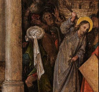Detail 3 Christ Driving The Money Lenders From The Templ