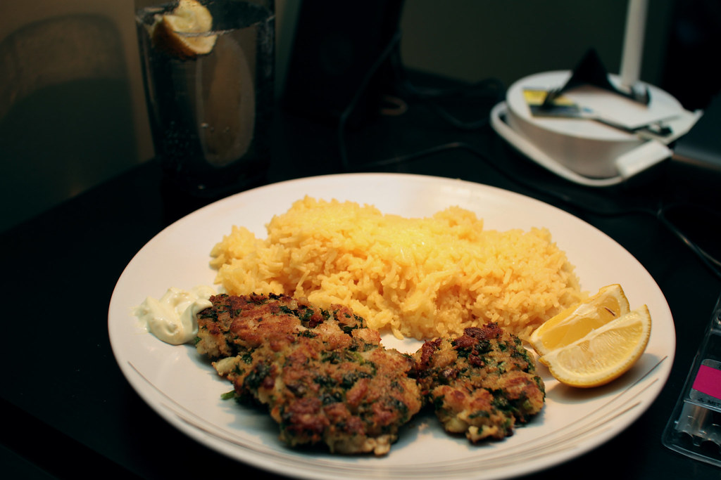 Fish cakes and saffron butter rice 1 | Cod/Snapper Whole ...
