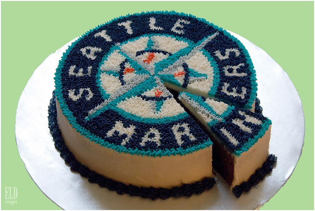 Seattle Mariners Logo Cake Oh Joy Baked Goods Created B Flickr
