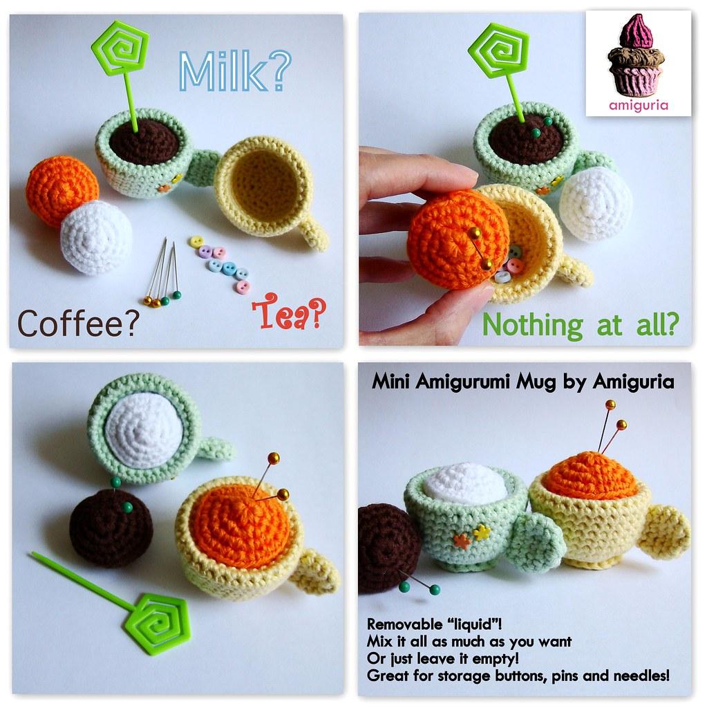 Mini Amigurumi Blog : Mini Amigurumi Mug by Amiguria Imagine an amigurumi mug ...