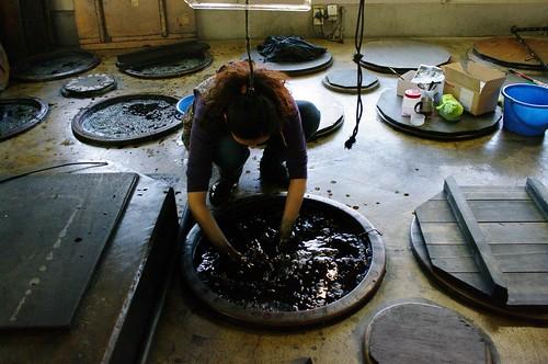 Indigo Dye Factory at Morioka Hand-made Factory