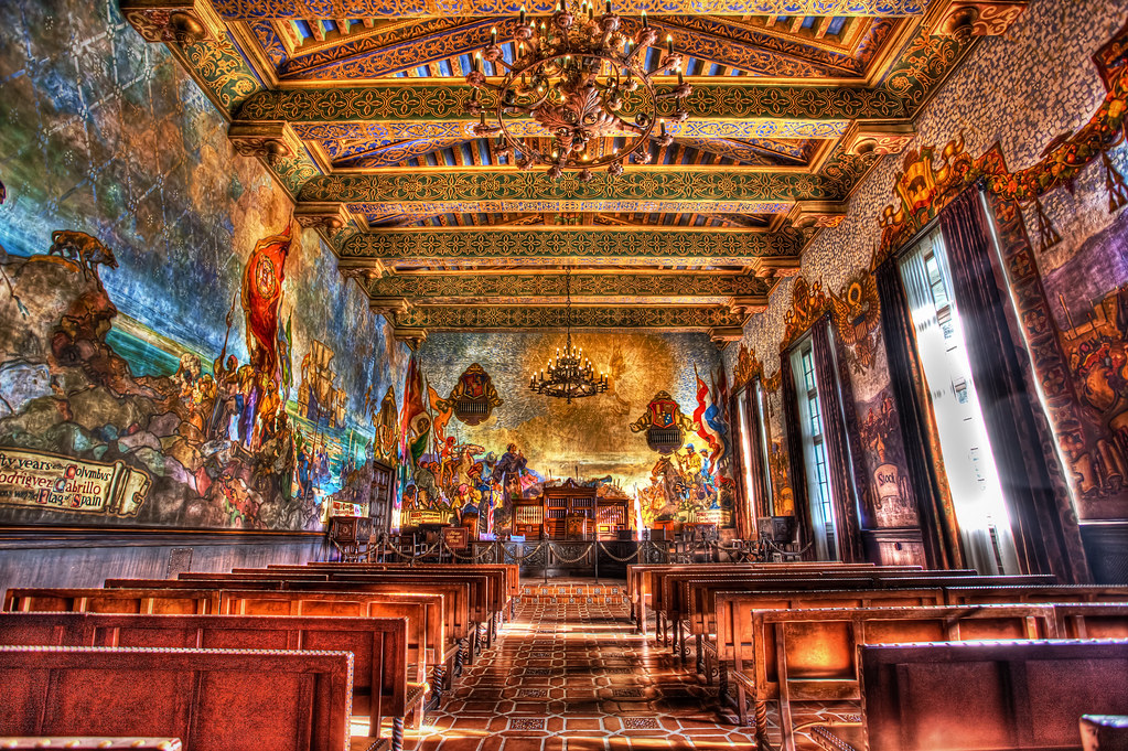 The mural room hdr 2 santa barbara courthouse for Mural room santa barbara courthouse
