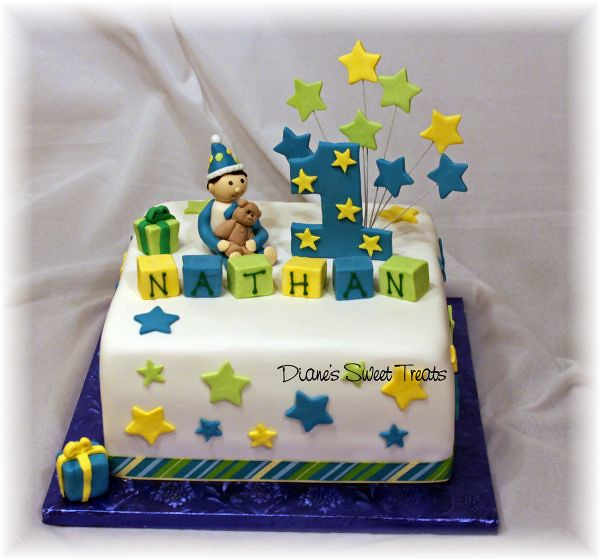 Birthday Cake Images For Little Boy : Nathan s first birthday cake Little boy is made from ...