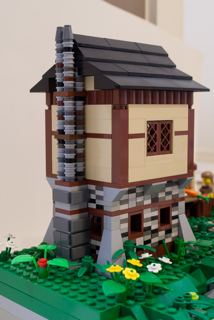 Lego Medieval House lego medieval village - house | i built this after being ins… | flickr
