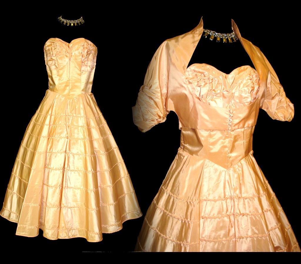 Vintage 50s 1950s Designer Full Circle Mad Men Dress Alfre… | Flickr