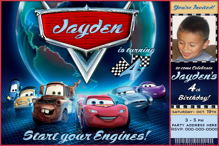 Custom Birthday Invitation Cars 2