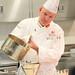 Chef Gene Fritz Finishing a Seasonal Soup Demo