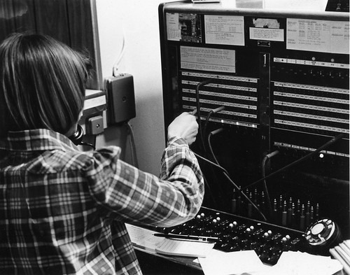 Unknown switchboard operator | by Benedictine University