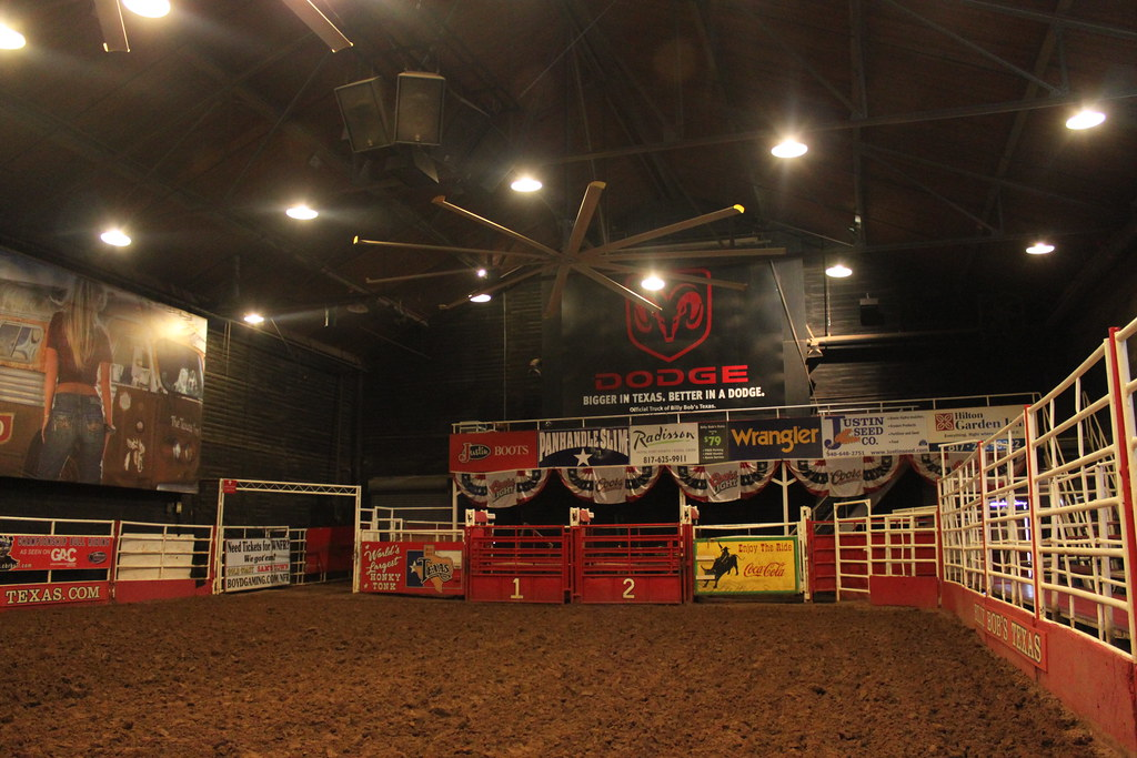 The Bull Riding Arena Inside Billy Bob S Texas In Fort Wor