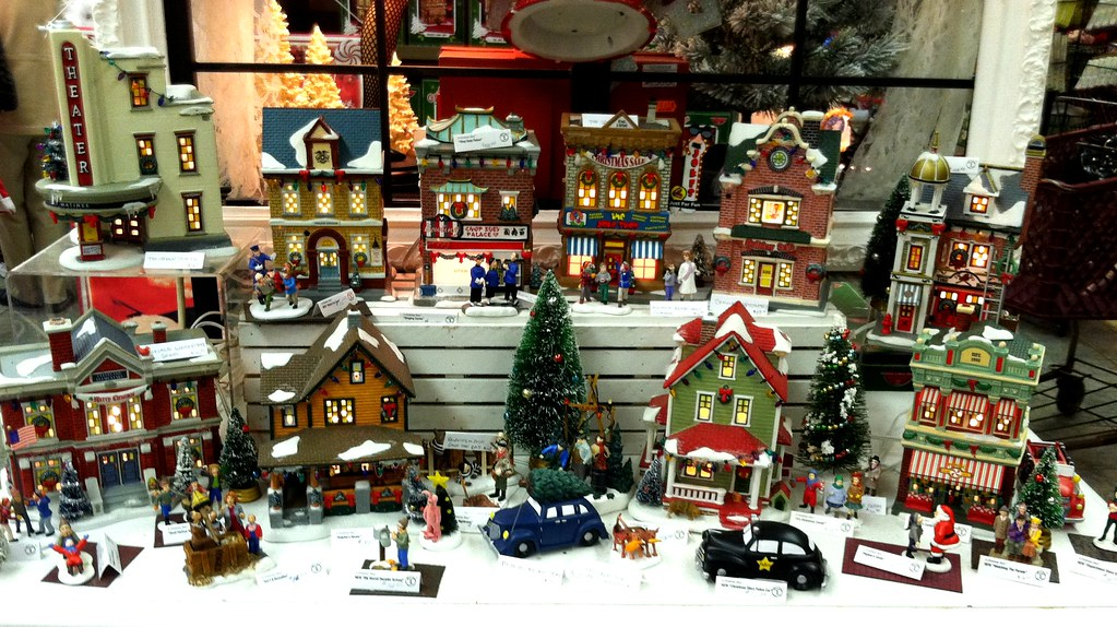 christmas story lighted village gales by that nikon girl