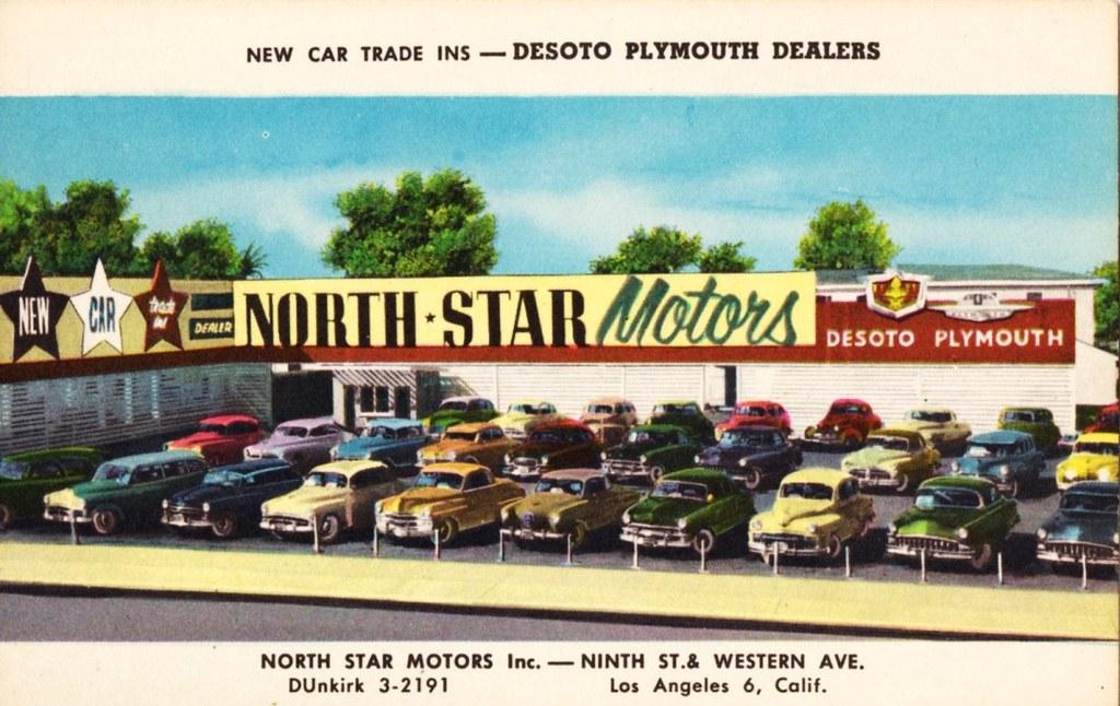 North Star Motors Los Angeles Ca De Soto Plymouth 1950s