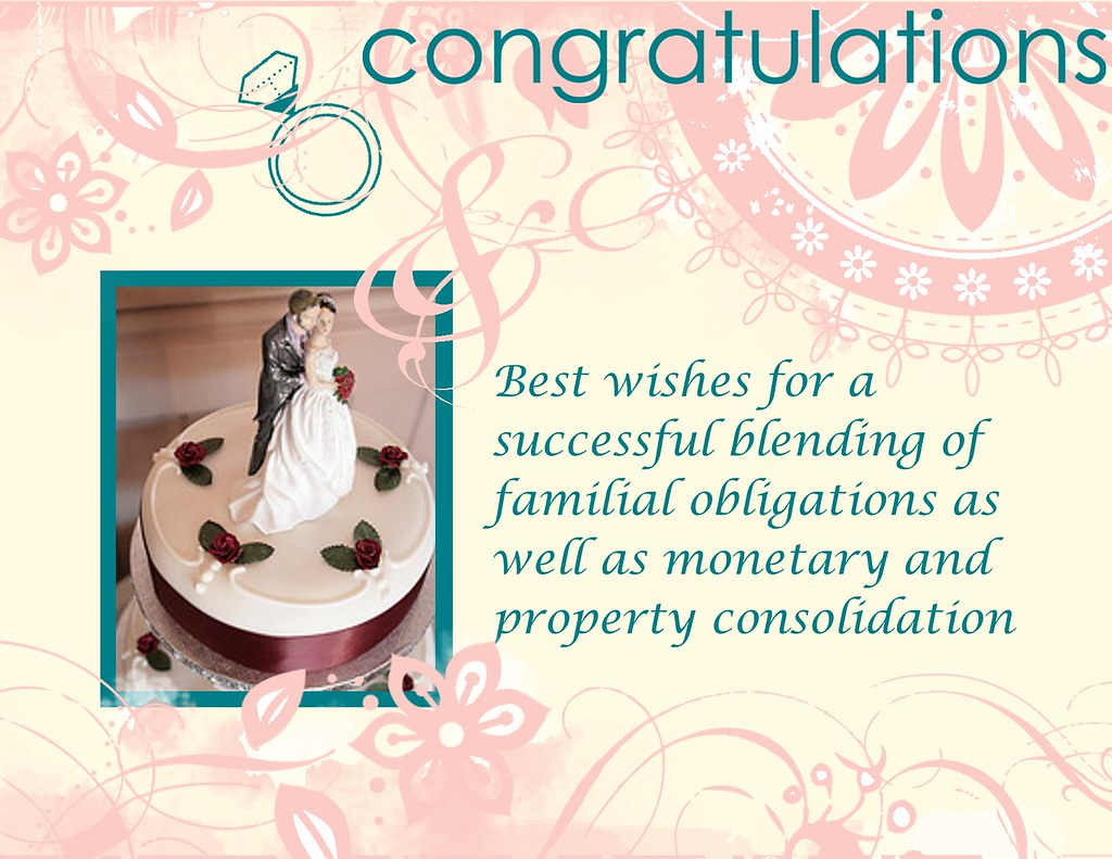 Inappropriate Wedding Congratulations Card A Slightly