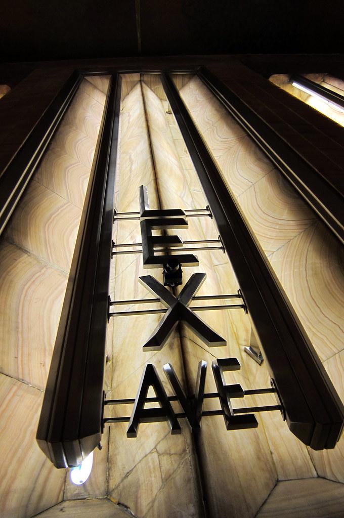 Nyc midtown chrysler building lex ave entrance flickr for Chrysler building ceiling mural